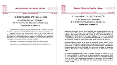 El documento original (izda) y la copia (derecha)