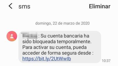 Estafa por SMS para acceder a datos bancarios. | GUARDIA CIVIL